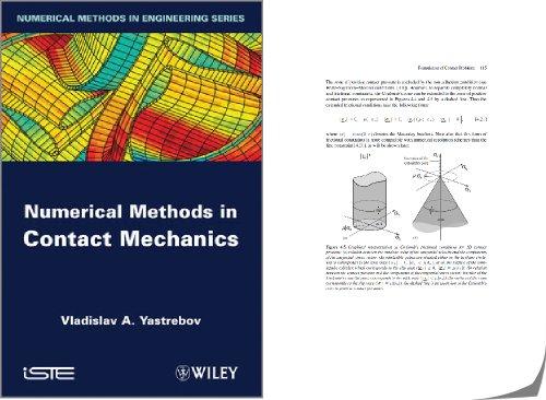 Un livre sur les méthodes numériques dans les contacts mécaniques, écrit par le double prix de thèse V. Yastrebov