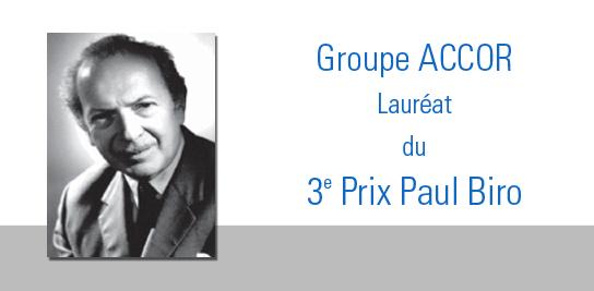Le prix Paul Biro «Prévention du risque incendie» remis au groupe Accor