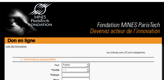 MINES ParisTech lance le don en ligne