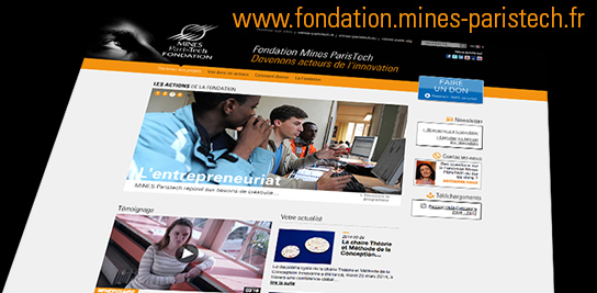 La Fondation Mines ParisTech lance son site internet !
