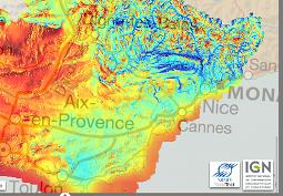 Publication de l'Atlas du gisement solaire de la r�gion Provence-Alpes-C�te d'Azur sur le G�oportail