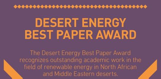 Yehia Eissa lauréat du Desert Energy Best Paper Award 2013 décerné par Dii GmbH