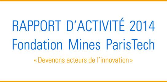 Le rapport d'activité 2014 est en ligne