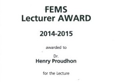 FEMS Lecturer Award for Excellence in MSE session 2014-2015