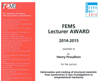 The FEMS Lecturers 2014-2015 include Henry PROUDHON