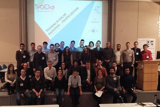 Trente-un ingénieurs et chercheurs en formation sur le rayonnement solaire à Sophia Antipolis (Training in Solar Radiation)