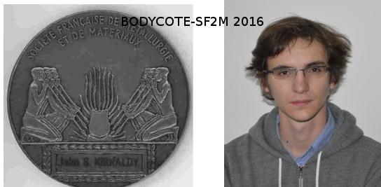 Second Prix 2016 Bodycote-SF2M attribué à Sylvain DEPINOY