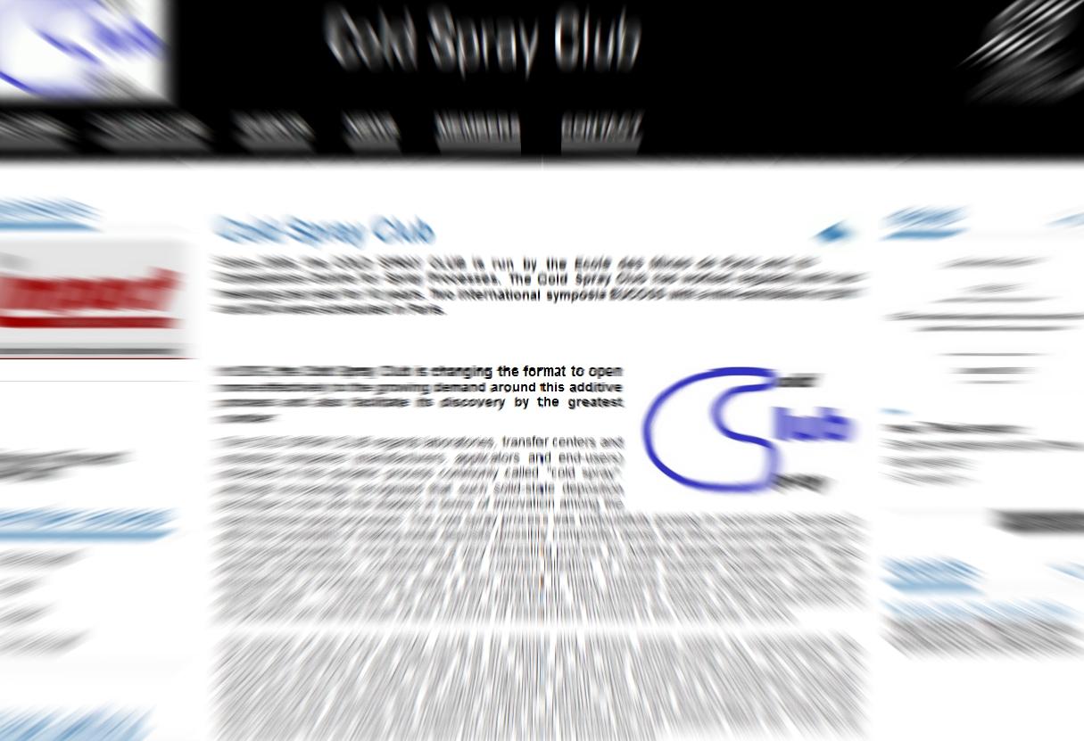 le Club Cold Spray sur la toile