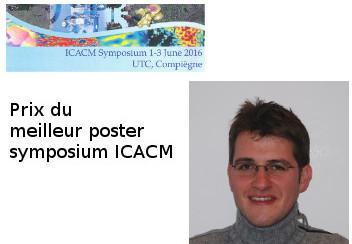 Thilo MORGENEYER re�oit le prix du meilleur poster lors du symposium ICACM