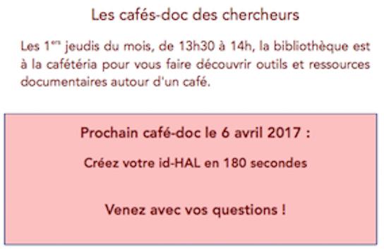 Café-doc des chercheurs d'avril