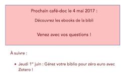 Café-doc des chercheurs de mai
