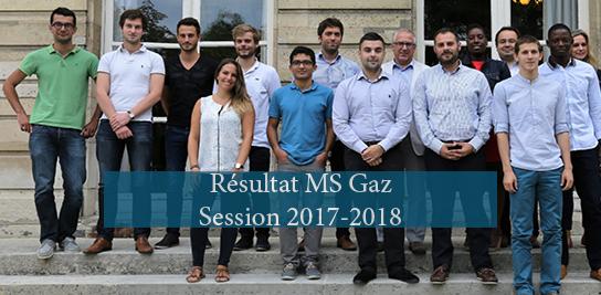 Mastère Gaz, liste des candidats sélectionnés
