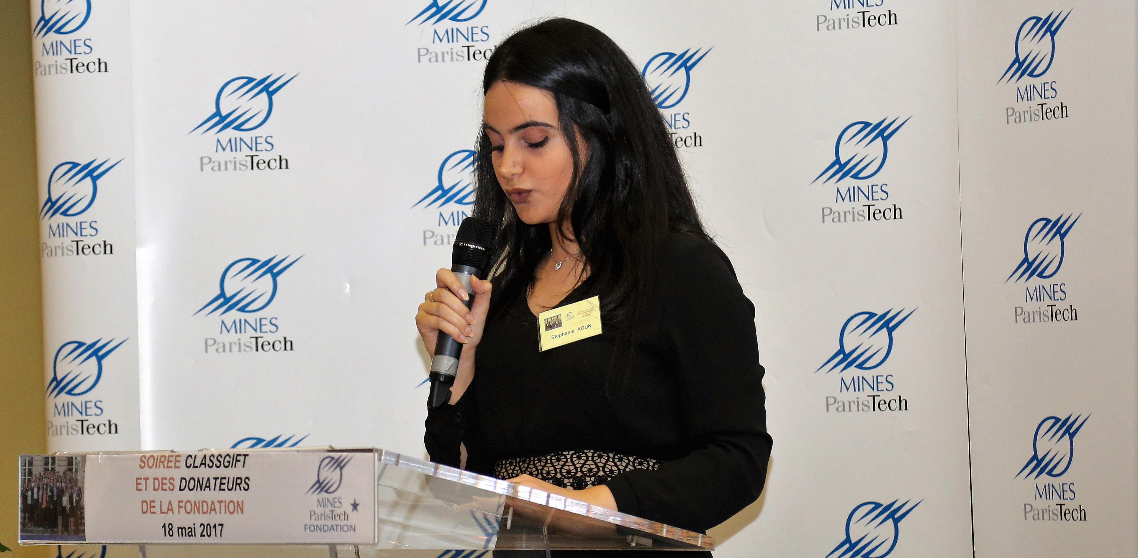 Le témoignage de Stéphanie Aoun, étudiante en double diplôme Université Libanaise - Ecole des Mines et boursière de la Fondation