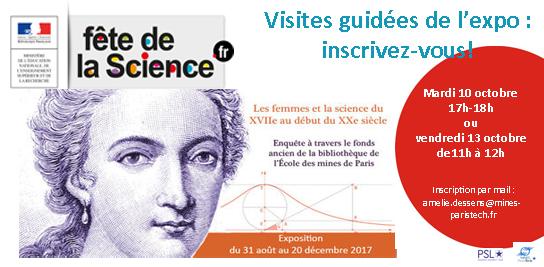Visites guidéees de l'expo de la bibliothèque pour la Fête de la science 2017 !