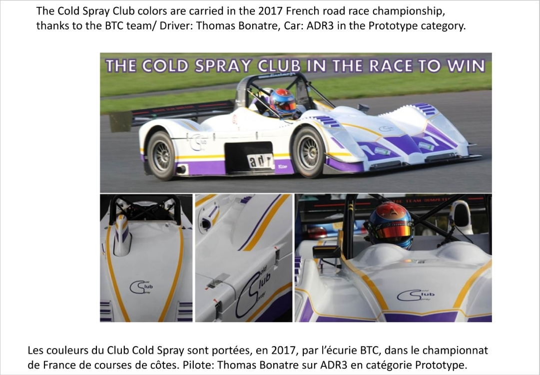 Cold Spray Club in the race to win!