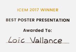 Loïc VALLANCE remporte le prix du meilleur poster à la conférence ICEM 2017