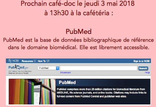 Présentation de PubMed au café-doc des chercheurs de mai