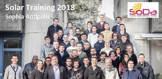 Quarante-et-un ingénieurs et chercheurs en formation sur le rayonnement solaire à Sophia Antipolis (Training in Solar Radiation, 6ème édition)