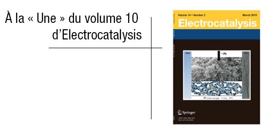 Les travaux du Centre PERSEE ont fait la couverture du journal Electrocatalysis