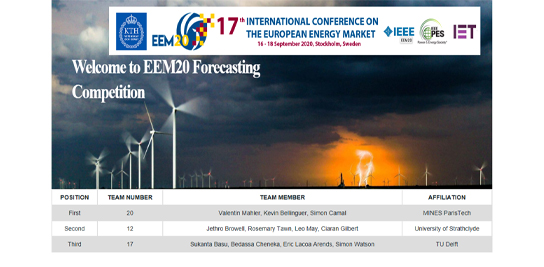 L'équipe de PERSEE / MINES ParisTech remporte le challenge international de prévision EEM 2020