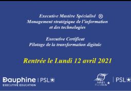 Rentrée 2021 du MS MSIT (Mines - Dauphine)
