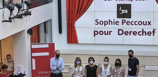 Sophie Peccoux (P16) 1<sup>er</sup> prix GEF Startup 2021